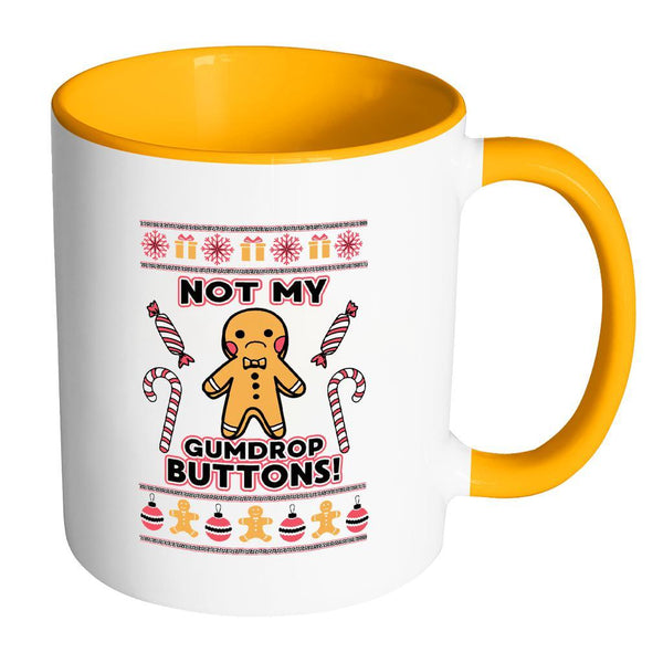 Not The Gumdrop Buttons Festive Funny Ugly Christmas Holiday Sweater 11oz Accent Coffee Mug (7 Colors)-Drinkware-Accent Mug - Orange-JoyHip.Com
