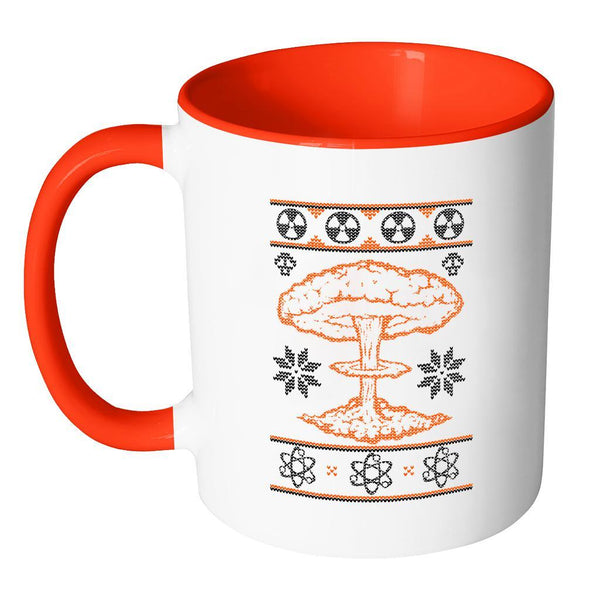 Nuclear Physics Engineering Bomb Explosion Kim Jong Boom Festive Funny Ugly Christmas Holiday Sweater 11oz Accent Coffee Mug (7 Colors)-Drinkware-JoyHip.Com