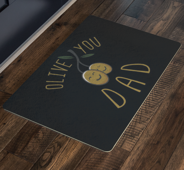 Olive You Dad 18X26 Front Door Mat Funny New Dad Gifts Ideas For Men Fathers Day-Doormat-JoyHip.Com