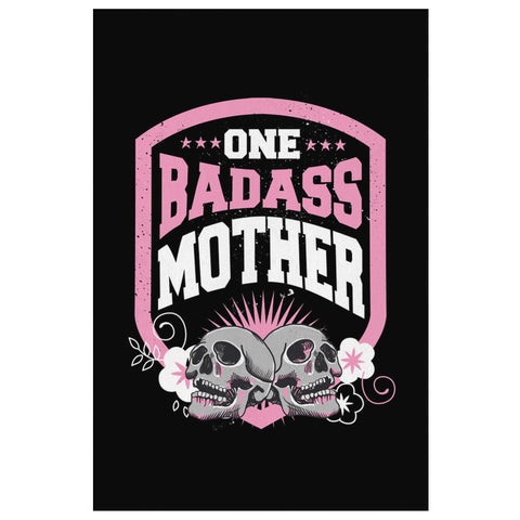 One Badass Mother Funny Cute Mothers Day Canvas Wall Home Room Decor Gift Ideas-Canvas Wall Art 2-8 x 12-JoyHip.Com