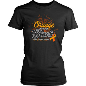 Orange Is The New Black Support Leukemia Awareness Hip Women T-Shirt-T-shirt-District Womens Shirt-Black-JoyHip.Com