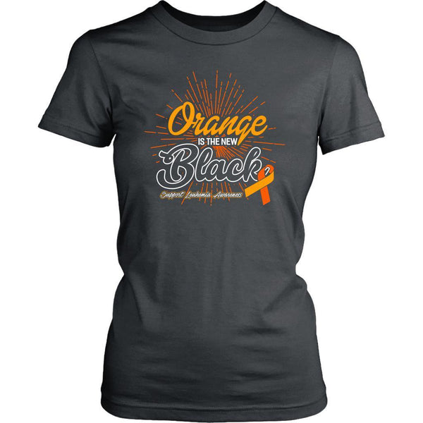 Orange Is The New Black Support Leukemia Awareness Hip Women T-Shirt-T-shirt-District Womens Shirt-Grey-JoyHip.Com