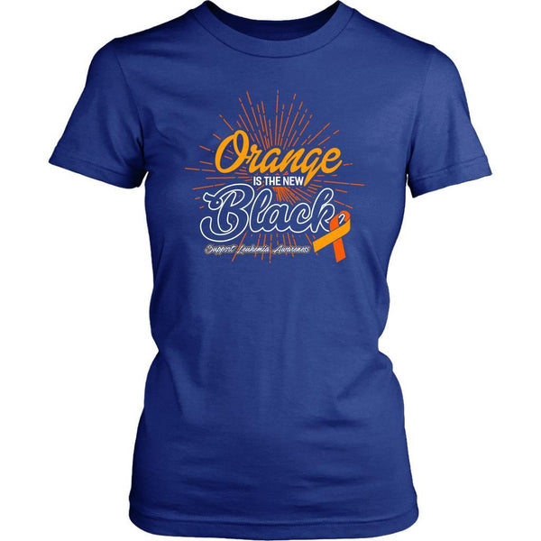 Orange Is The New Black Support Leukemia Awareness Hip Women T-Shirt-T-shirt-District Womens Shirt-Royal Blue-JoyHip.Com