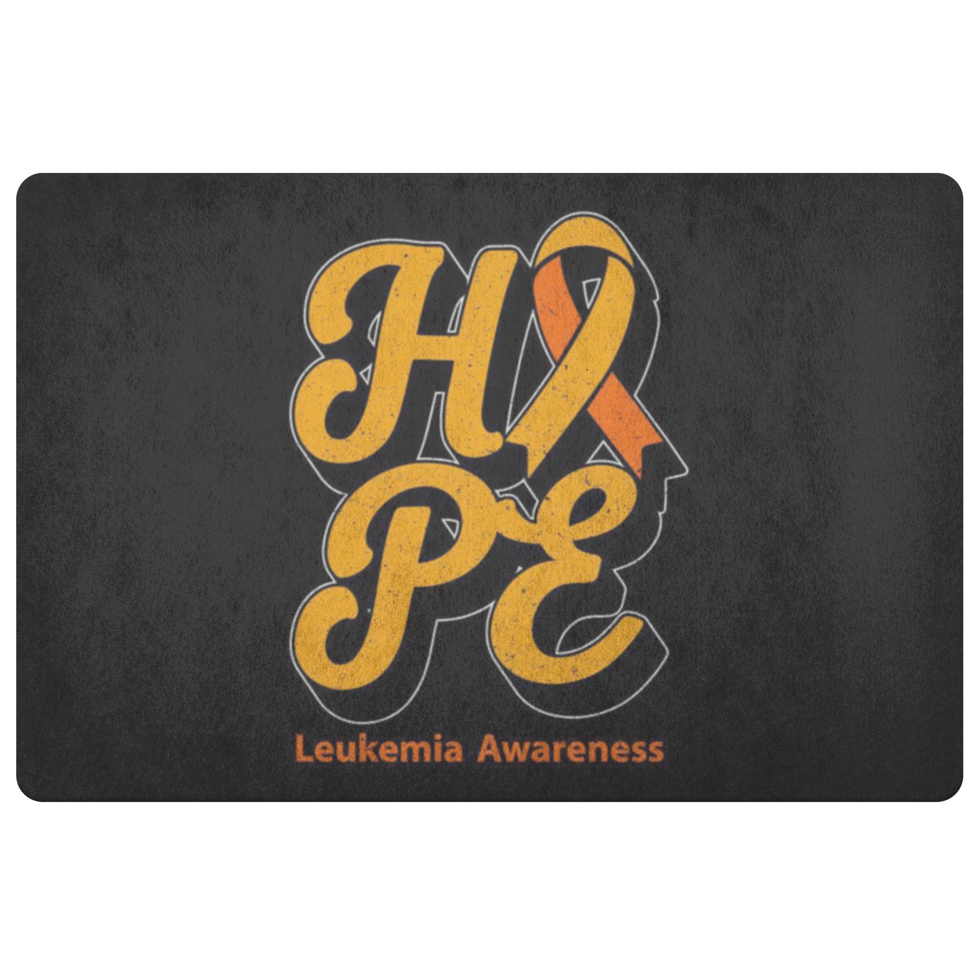 Orange Ribbon Hope Leukemia Cancer Awareness 18X26 Indoor Door Mat Entryway Rug-Doormat-Black-JoyHip.Com