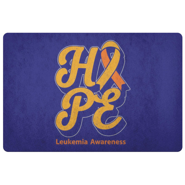 Orange Ribbon Hope Leukemia Cancer Awareness 18X26 Indoor Door Mat Entryway Rug-Doormat-Navy-JoyHip.Com