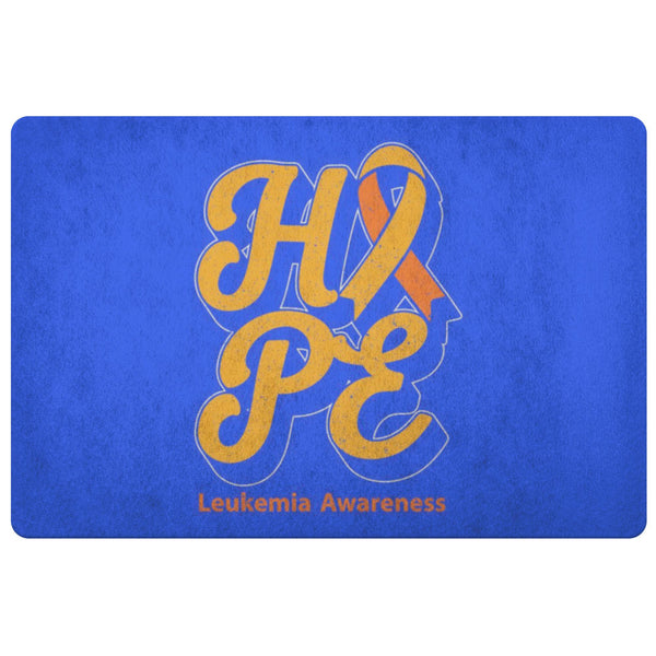 Orange Ribbon Hope Leukemia Cancer Awareness 18X26 Indoor Door Mat Entryway Rug-Doormat-Royal Blue-JoyHip.Com