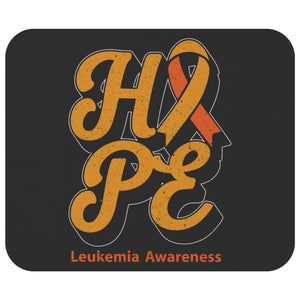 Orange Ribbon Hope Leukemia Cancer Comfort Gift For Chemo Patient Cute Mouse Pad-Mousepads-Black-JoyHip.Com