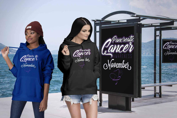 Pancreatic Cancer Awareness November Purple Ribbon Awesome Gift Ideas Hoodie-T-shirt-JoyHip.Com