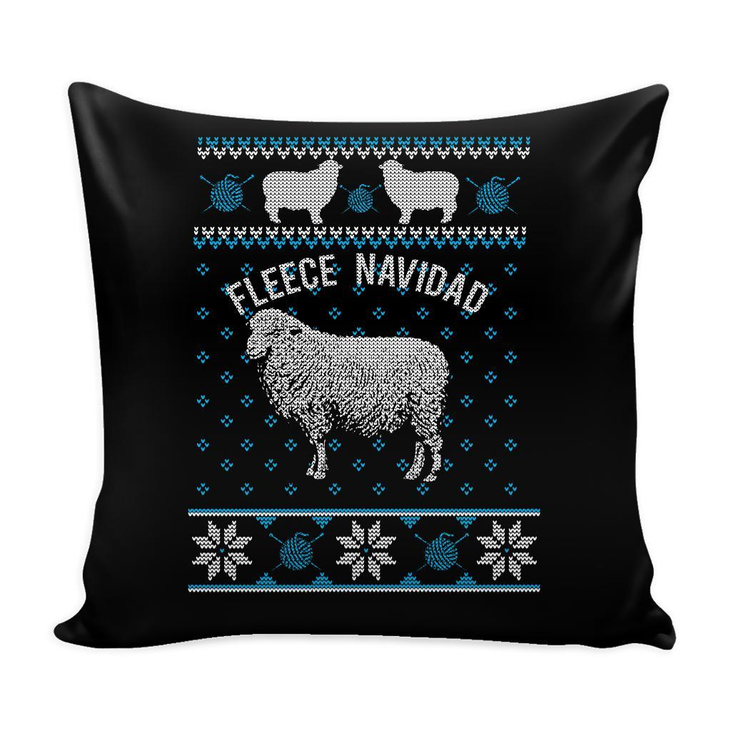 Paramedic EMT First Responder Festive Funny Ugly Christmas Holiday Sweater Decorative Throw Pillow Cases Cover(4 Colors)-Pillows-Black-JoyHip.Com