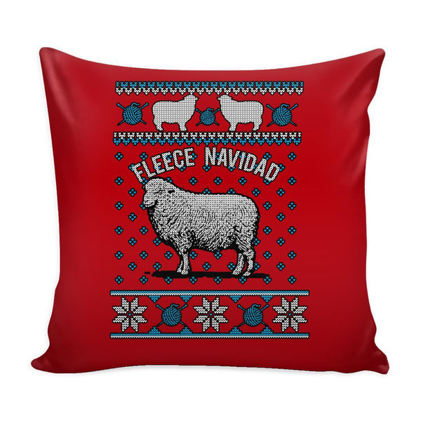 Paramedic EMT First Responder Festive Funny Ugly Christmas Holiday Sweater Decorative Throw Pillow Cases Cover(4 Colors)-Pillows-Red-JoyHip.Com