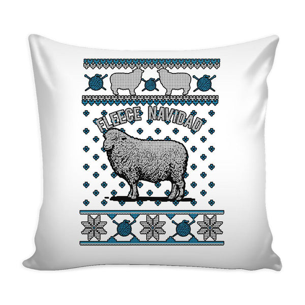 Paramedic EMT First Responder Festive Funny Ugly Christmas Holiday Sweater Decorative Throw Pillow Cases Cover(4 Colors)-Pillows-White-JoyHip.Com