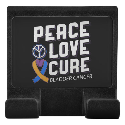 Peace Love Cure Bladder Cancer Phone Monitor Holder For Laptop Desktop Gifts-Moniclip-Moniclip-JoyHip.Com