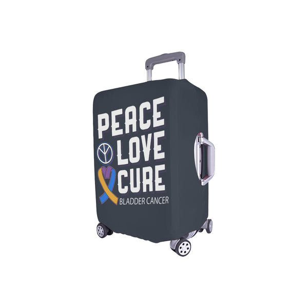 "Peace Love Cure Bladder Cancer Travel Luggage Cover Suitcase Protector 18""-28""-JoyHip.Com"