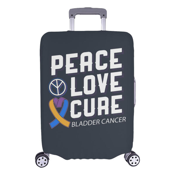 "Peace Love Cure Bladder Cancer Travel Luggage Cover Suitcase Protector 18""-28""-L-Grey-JoyHip.Com"