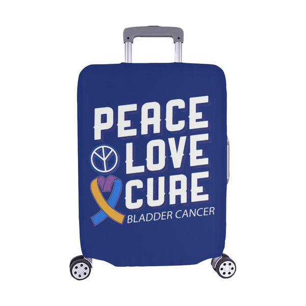 "Peace Love Cure Bladder Cancer Travel Luggage Cover Suitcase Protector 18""-28""-M-Navy-JoyHip.Com"