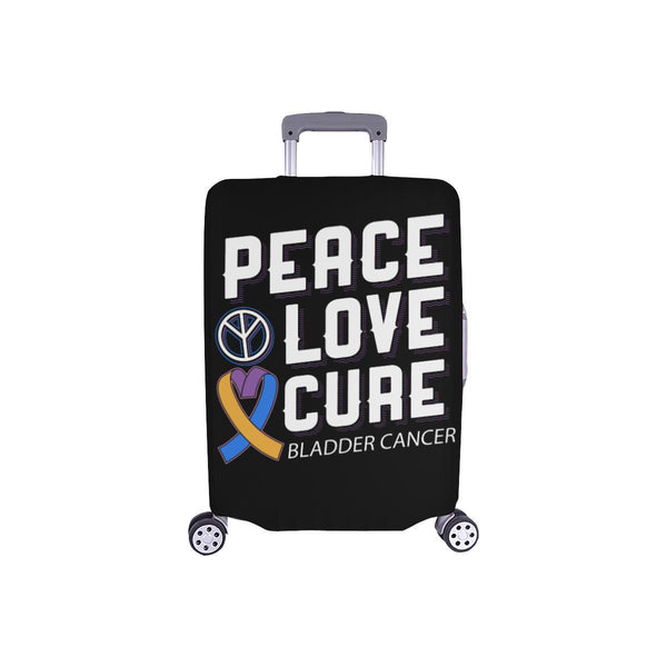 "Peace Love Cure Bladder Cancer Travel Luggage Cover Suitcase Protector 18""-28""-S-Black-JoyHip.Com"