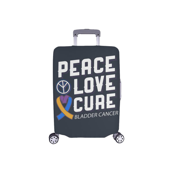 "Peace Love Cure Bladder Cancer Travel Luggage Cover Suitcase Protector 18""-28""-S-Grey-JoyHip.Com"