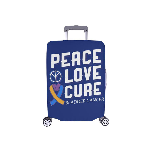 "Peace Love Cure Bladder Cancer Travel Luggage Cover Suitcase Protector 18""-28""-S-Navy-JoyHip.Com"