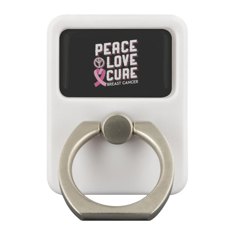Peace Love Cure Breast Cancer Phone Ring Holder Kickstand Gifts Idea-Ringr - Multi-Tool Accessory-Ringr - Multi-Tool Accessory-JoyHip.Com