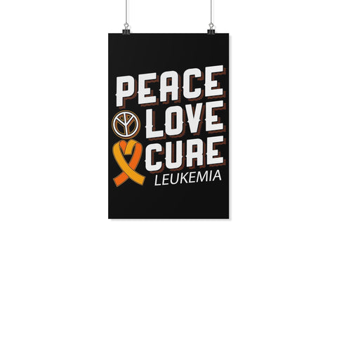 Peace Love Cure Leukemia Cancer Awareness Motivational Posters Wall Art Decor-Posters 2-11x17-JoyHip.Com