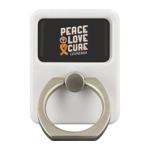 Peace Love Cure Leukemia Cancer Phone Ring Holder Kickstand Gifts Idea-Ringr - Multi-Tool Accessory-Ringr - Multi-Tool Accessory-JoyHip.Com