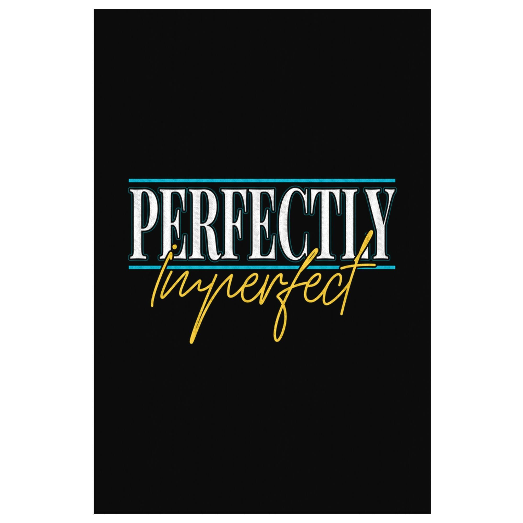 Perfectly Imperfect Funny Cute Christian Canvas Wall Art Room Decor Gift Ideas-Canvas Wall Art 2-8 x 12-JoyHip.Com