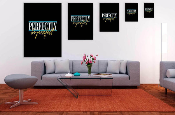 Perfectly Imperfect Funny Cute Christian Canvas Wall Art Room Decor Gift Ideas-Canvas Wall Art 2-JoyHip.Com