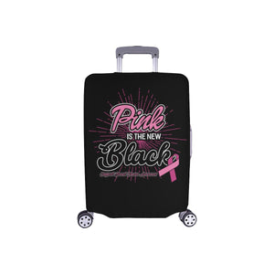 Pink Is The New Black Support Breast Cancer Awareness Travel Luggage Cover Gifts-S-Black-JoyHip.Com