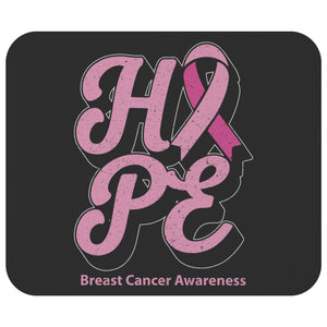 Pink Ribbon Hope Breast Cancer Comfort Gifts For Chemo Patients Cute Mouse Pad-Mousepads-Black-JoyHip.Com