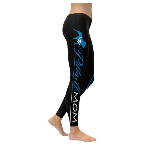 Pitbull Mom Low Rise Leggings For Women-Low Rise Leggings-XXS-JoyHip.Com