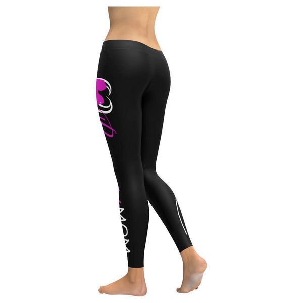 Pomeranian Mom Low Rise Leggings For Women-Low Rise Leggings-JoyHip.Com