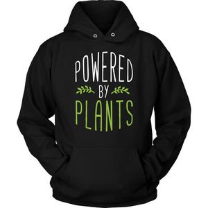 Powered By Plants Awesome Great Funny Vegan Gift Ideas Cozy Soft Hoodie-T-shirt-Unisex Hoodie-Black-JoyHip.Com