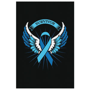 Prostate Cancer Awareness Survivor Angel Wings Canvas Wall Art Home Decor Gifts-Canvas Wall Art 2-8 x 12-JoyHip.Com