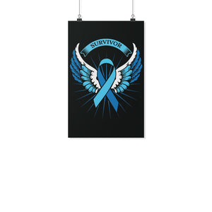 Prostate Cancer Awareness Survivor Angel Wings Motivational Posters Wall Decor-Posters 2-11x17-JoyHip.Com