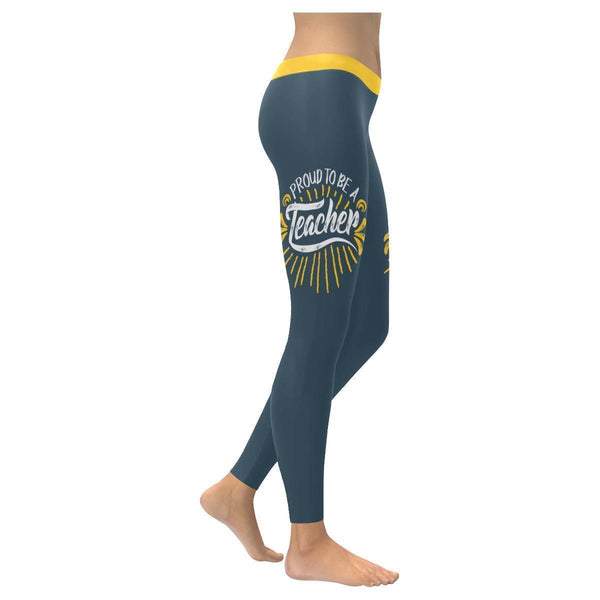 Proud To Be A Teacher Day Meaningful Funny Gift Ideas UPF40+ Womens Leggings-XXS-Grey-JoyHip.Com