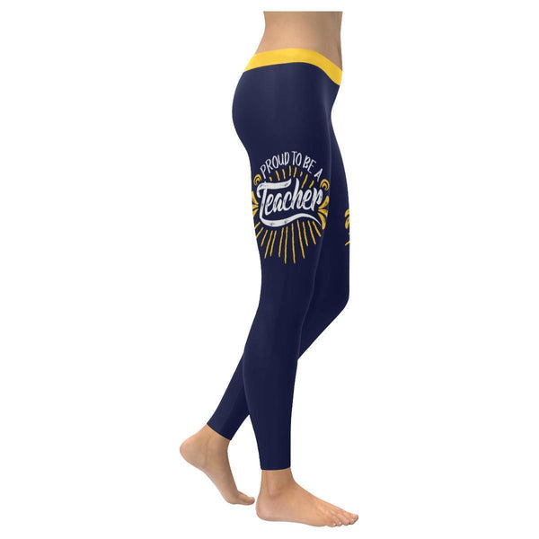 Proud To Be A Teacher Day Meaningful Funny Gift Ideas UPF40+ Womens Leggings-XXS-Navy-JoyHip.Com