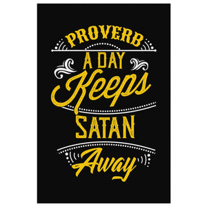 Proverb A Day Keeps Satan Away Christian Canvas Wall Art Room Decor Gifts Ideas-Canvas Wall Art 2-8 x 12-JoyHip.Com