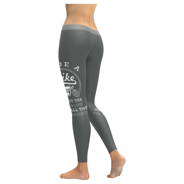 Ride A Bike & Let The Wind Blow Away All The Sad Moments Bikers Womens Leggings-JoyHip.Com