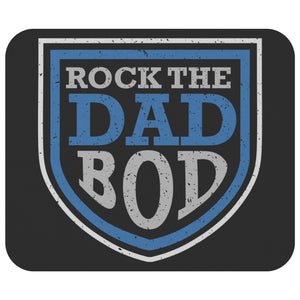 Rock The Dad Bod Mouse Pad New Pappy Gifts Ideas Funny Fathers Day Unique Cool-Mousepads-Black-JoyHip.Com