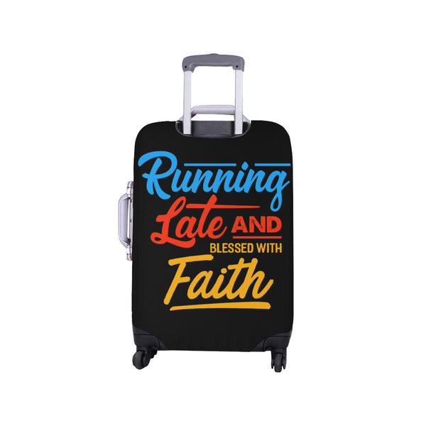 Running Late & Blessed With Faith Christian Travel Luggage Cover Suitcase-JoyHip.Com