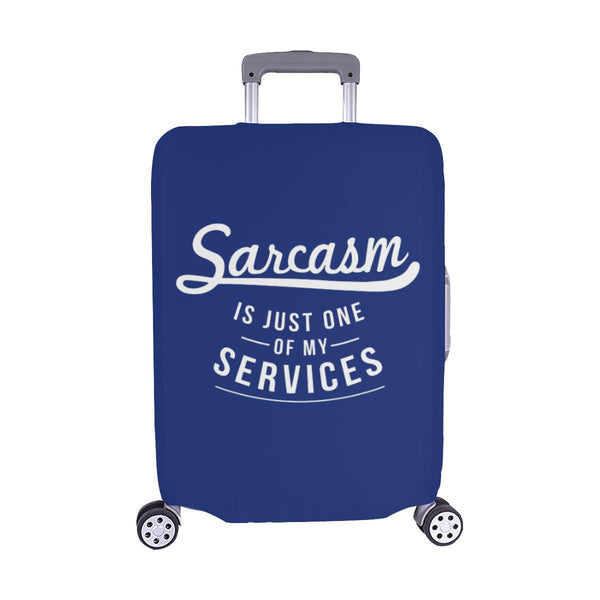 Sarcasm Is Just One Of My Services Sarcastic Travel Luggage Cover Protector-M-Navy-JoyHip.Com