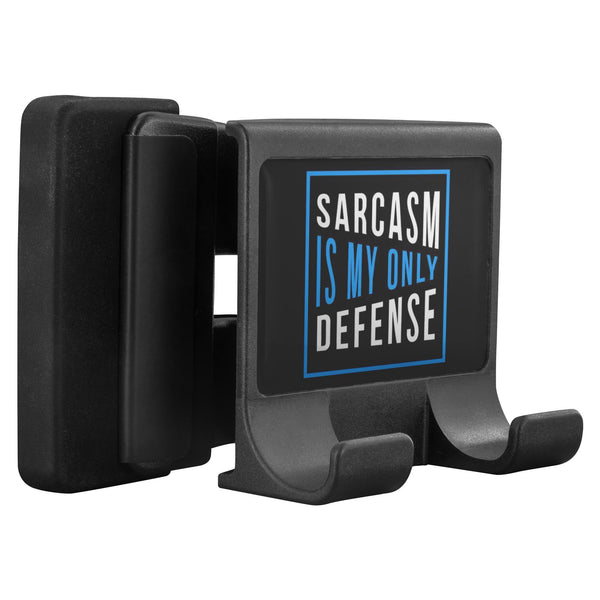 Sarcasm Is My Only Defense Funny Sarcastic Cell Phone Monitor Holder For Laptop-Moniclip-Moniclip-JoyHip.Com