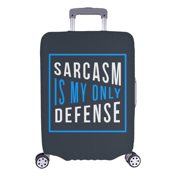 Sarcasm Is My Only Defense Sarcastic Travel Luggage Cover Suitcase Protector-L-Grey-JoyHip.Com