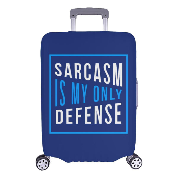 Sarcasm Is My Only Defense Sarcastic Travel Luggage Cover Suitcase Protector-L-Navy-JoyHip.Com