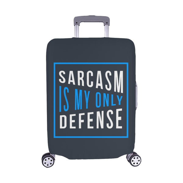 Sarcasm Is My Only Defense Sarcastic Travel Luggage Cover Suitcase Protector-M-Grey-JoyHip.Com