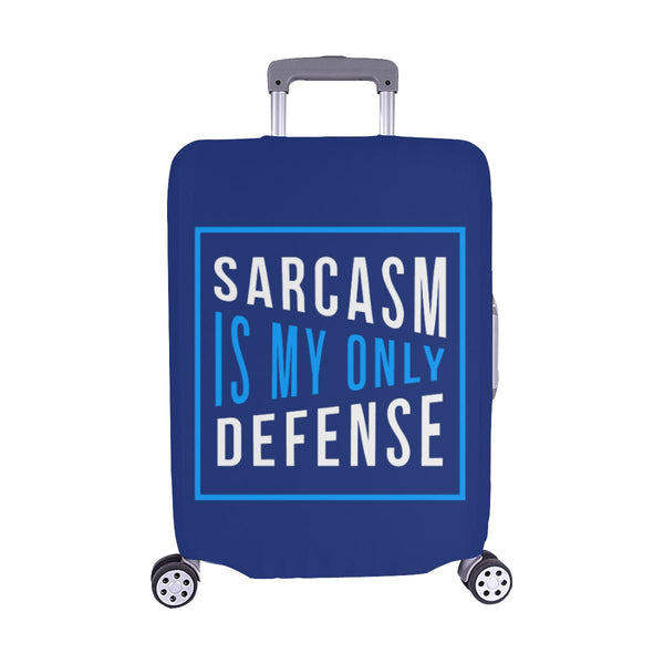 Sarcasm Is My Only Defense Sarcastic Travel Luggage Cover Suitcase Protector-M-Navy-JoyHip.Com