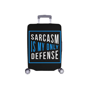 Sarcasm Is My Only Defense Sarcastic Travel Luggage Cover Suitcase Protector-S-Black-JoyHip.Com