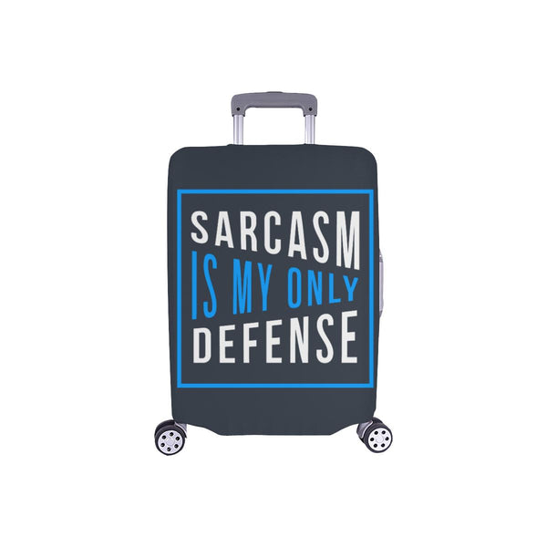 Sarcasm Is My Only Defense Sarcastic Travel Luggage Cover Suitcase Protector-S-Grey-JoyHip.Com