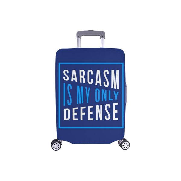 Sarcasm Is My Only Defense Sarcastic Travel Luggage Cover Suitcase Protector-S-Navy-JoyHip.Com