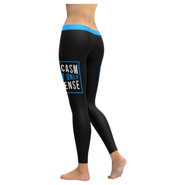 Sarcasm Is My Only Defense Soft Leggings For Women Cute Funny Sarcastic Gifts-JoyHip.Com